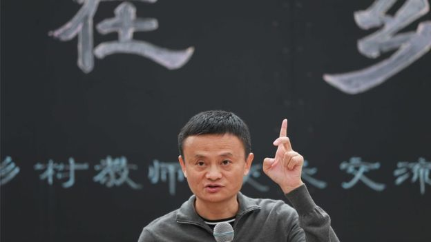 Mr Ma co-founded Alibaba in 1999