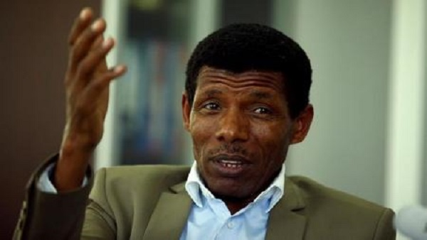 Haile Gebrselassie, former Ethiopia's long distance runner and Olympic champion, speaks during an interview with Reuters in his office after he was elected president of the Ethiopian Athletics Federation in Addis Ababa, Ethiopia November 7, 2016. REUTERS/Tiksa Negeri