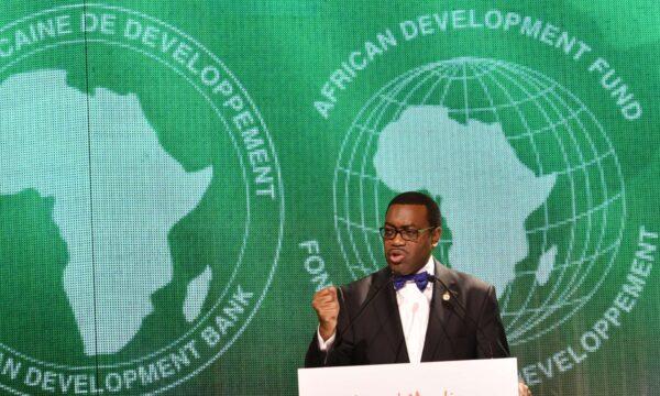 The president of the African Development Bank (AfDB) Akinwumi Adesina. PHOTO/ SIA KAMBOUSIA KAMBOU/AFP/Getty Images