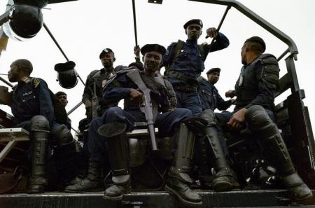 Congolese police patrol in their truck File Photo: REUTERS/Stringer