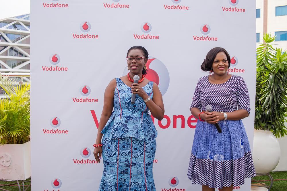 Communication minister, Ursula Owusu-Ekuful and Vodafone Ghana CEO, Yolanda Cuba
