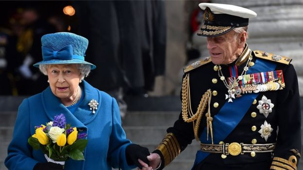 The Queen and Duke of Edinburgh. File PHOTO: AFP