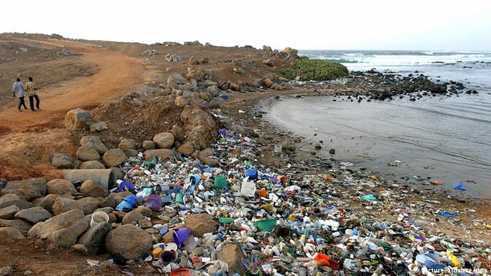Plastic wastes are dotted across many beaches in Africa creating an environmental threat.
