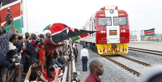 China-built railway, biggest Kenya project opened