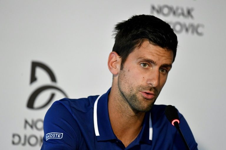 Serbian tennis player Novak Djokovic. Photo: AFP