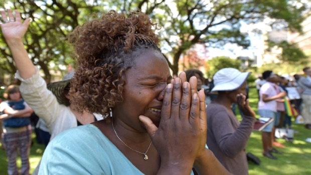 Prayer service at Africa Unity Square -Zimbabwe Photo: News24