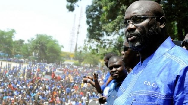 George Weah won the first round of the election - but not by enough to avoid a run-off vote. Photo: AFP
