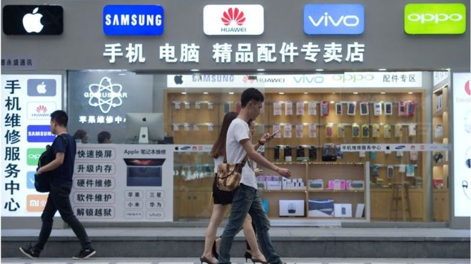 The Chinese smartphone market has gone into decline for the first time in almost a decade. Photo: GETTY