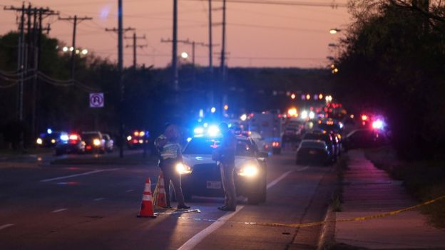 Police investigate an incident involving explosives in Austin on Tuesday. Photo: Reuters
