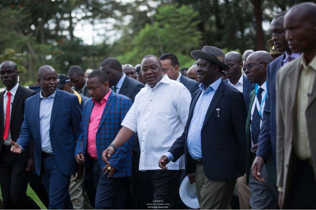 Uhuru Kenyatta and Raila Odina seen for the second time publicly attending a golf tournament.