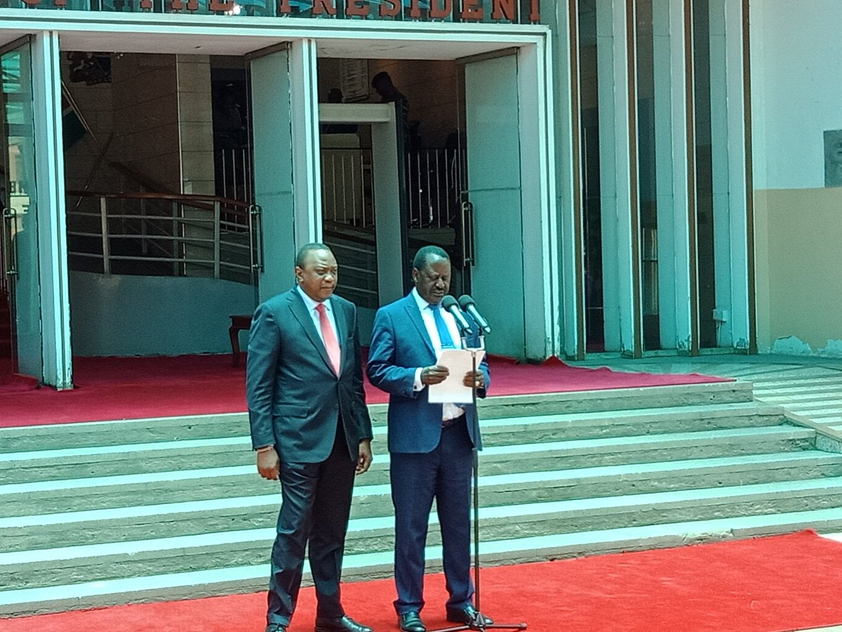 Kenyatta and Odinga resolve differences, call for peace