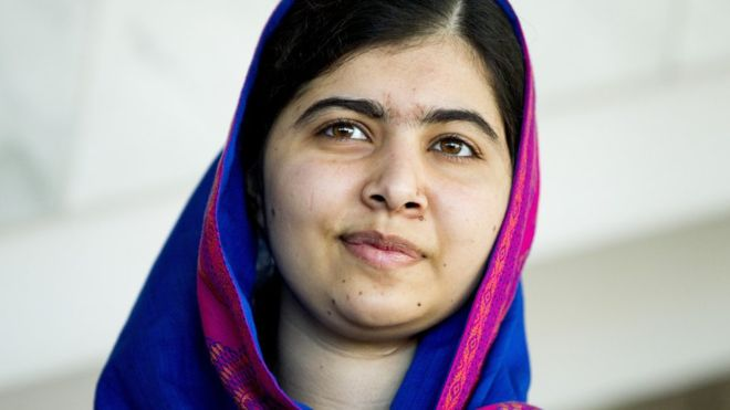 Ms Yousafzai, now studying at Oxford University, was targeted on her way to school at 15. Photo: GETTY IMAGES