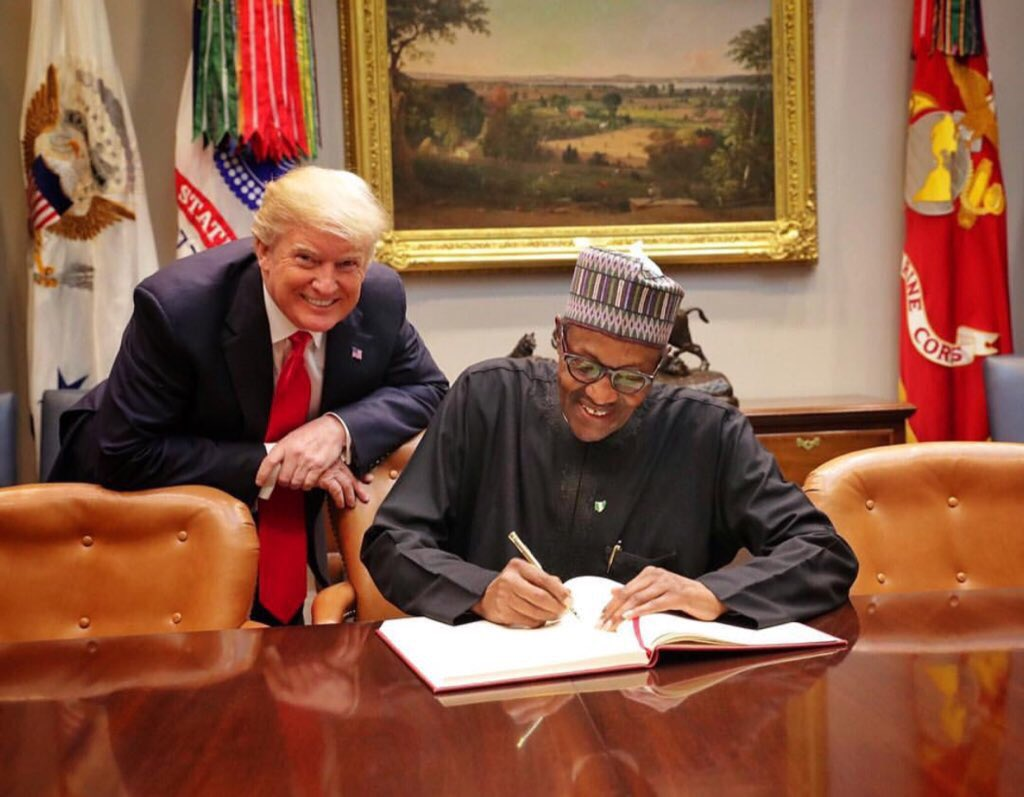 President Trump and President Buhari. Photo: Twitter