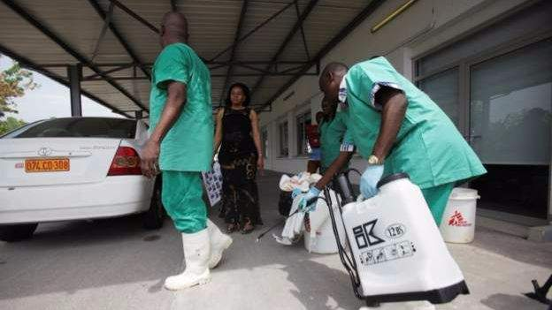 Health workers during a 2014 outbreak in Kinshasa. Photo: Reuters