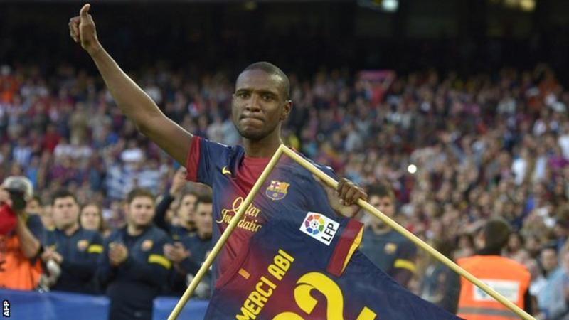Eric Abidal won four league titles and two Champions Leagues during his time at the Nou Camp