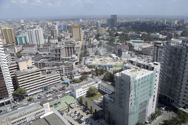 A section of the Dar es Salaam skyline. Tanzania faces legal suit at international tribunals over tax, investment policies. PHOTO | REUTERS