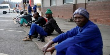 File Photo: Unemployed men wait on a street corner in the hope of getting casual work in Pietermaritzburg, South Africa June 28, 2017. REUTERS/Rogan Ward