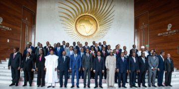 African leaders gather at an AU summit.