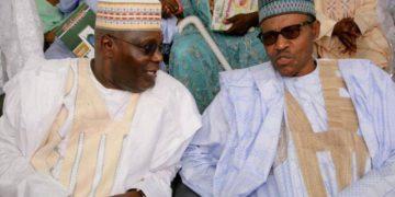 Atiku Abubakar (L) and Muhammadu Buhari (R) contested the February 23 presidential election.