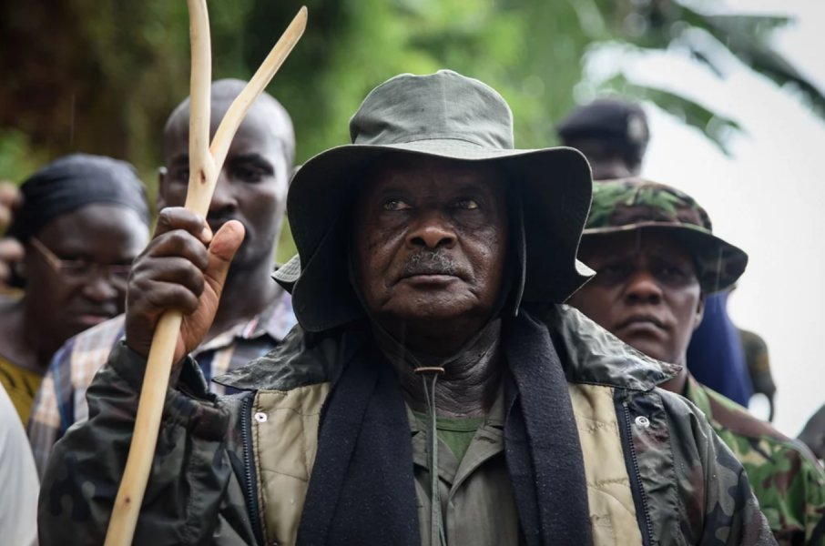 Yoweri Museveni in jungle