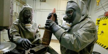 File photo: Destruction of chemical weapons
