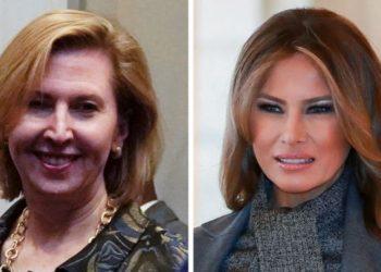 Mira Ricardel (left) and Melania Trump (right). Photo: Reuters /EPA