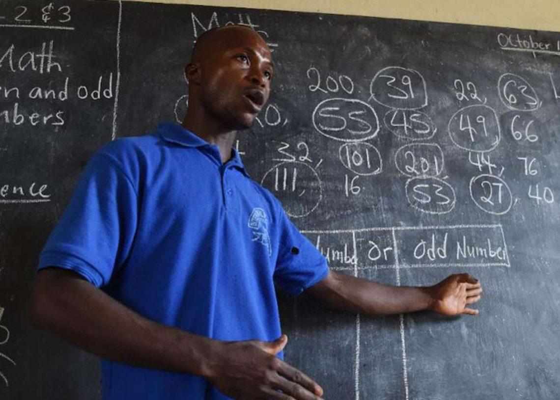 File photo: A Ghanaian teacher in class
