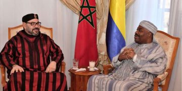 Moroccan Royal Palace of King Mohamed VI (L) with Gabon's President Ali Bongo at the military hospital in the capital Rabat. Photo: FILE | NATION MEDIA GROUP