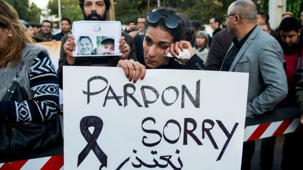 "Many participants came with signs saying ""sorry"". Photo: AFP"