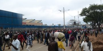 Commuters walked to work on Monday during the ban. PHOTO | SILA KIPLAGAT | NATION MEDIA GROUP