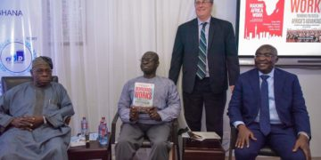 Former Nigerian President, Obasanjo (L) with some of African scholars at the launch of the book. Photo: Africa Feeds Media