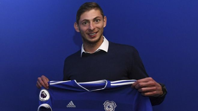 Emiliano Sala was returning to Cardiff on Monday after signing for the club at the weekend. Photo: Getty Images