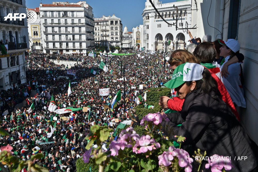 Thousands of Algerians continue to protest.