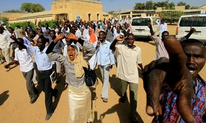 File photo: Sudanese protesters