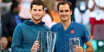 Thiem was competing in his third Masters 1000 final and denied Federer a 101st ATP title