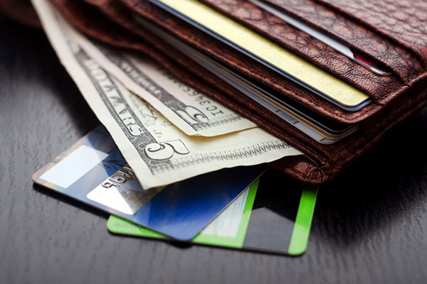 Cash, credit cards and wallet. FOTOSEARCH