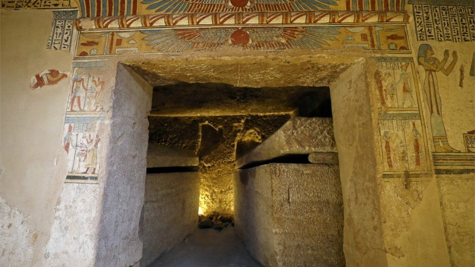 The burial chambers of the tomb. Photo: Reuters