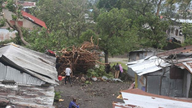 Cyclone Kenneth has already devastated areas of the island nation of Comoros. Photo: Getty Images