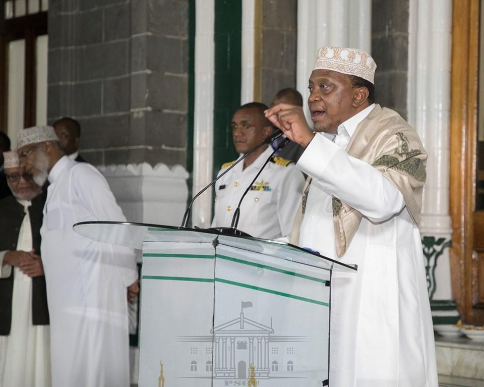 President Kenyatta at a Mosque. Photo: State House Kenya