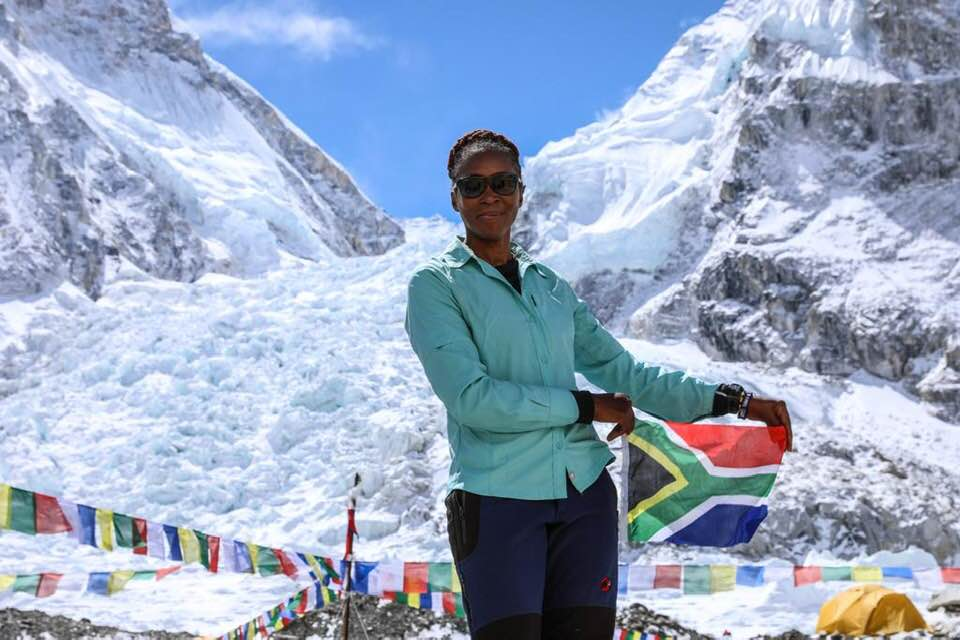 Ms Khumalo is a business executive but has for many years desired to climb the world's highest mountain