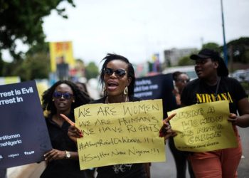 The protest in Accra is meant to put pressure on the Nigerian government.