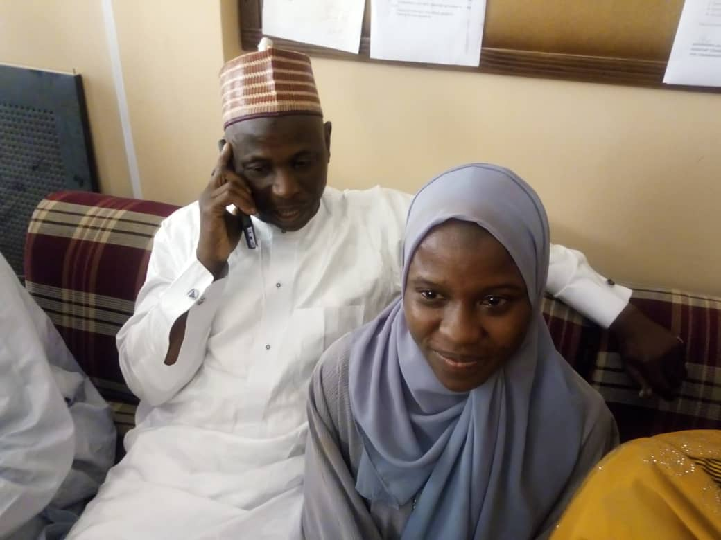 Zainab Aliyu pictured smiling after returning home. Photo: BBC