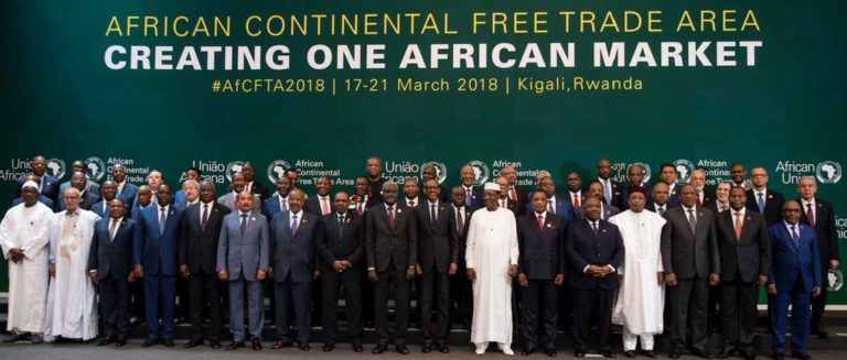 African leaders hope the free trade will boost their economies.