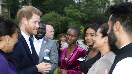 Prince Harry with some of the awards winners