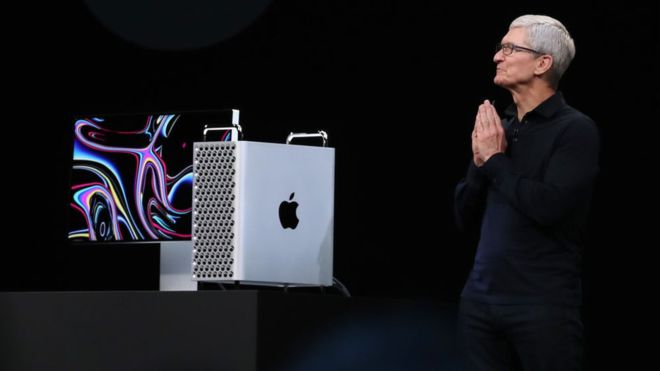 Apple chief executive Tim Cook introduced the new Mac Pro at the annual developers conference. Photo: Getty Images