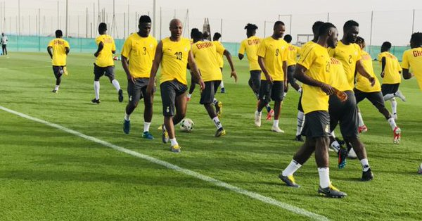 Ghana's black stars players