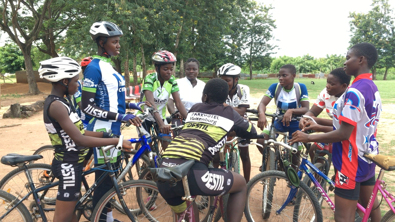 Some of the girls gather for training. Photo: Africa Feeds Media