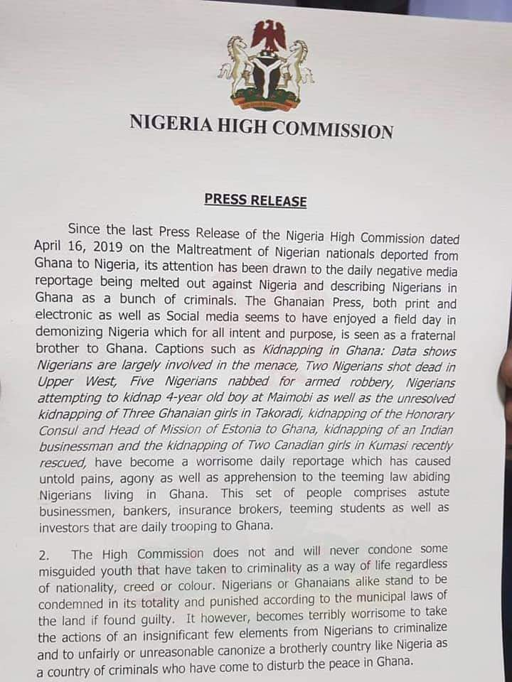 Ghana and Nigeria engulfed in a diplomatic row 2