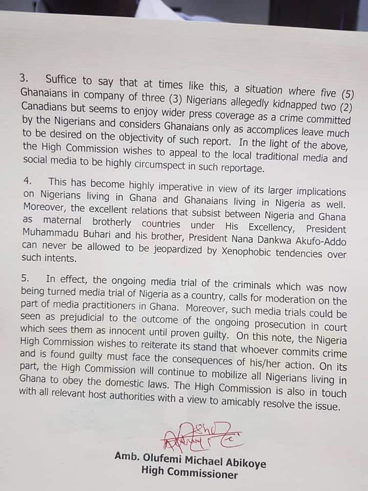 Ghana and Nigeria engulfed in a diplomatic row 3