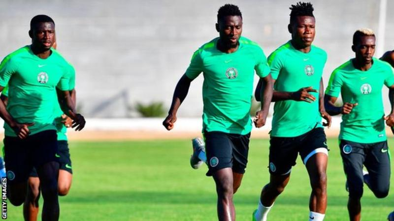 Samuel Kalu (seond from right) has made five appearances for his country